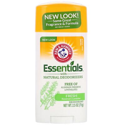 Купить Arm & Hammer Essentials Natural — дезодорант, для мужчин и женщин, свежий аромат, 2, 5 унции (71 г)