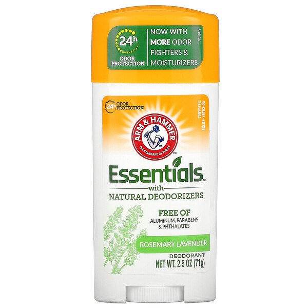 Arm & Hammer, Essentials with Natural Deodorizers, Deodorant, Rosemary Lavender, 2.5 oz (71 g)