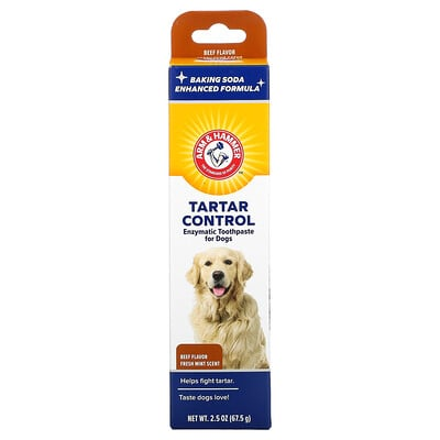 Arm & Hammer Tartar Control, Enzymatic Toothpaste for Dogs, Beef, 2.5 oz (67.5 g)