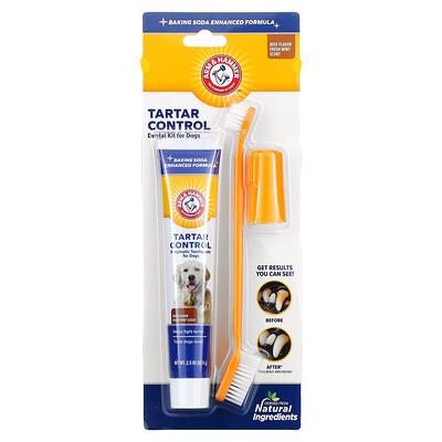 Arm & Hammer Tartar Control Dental Kit for Dogs, Beef, 3 Piece Kit
