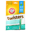 Arm & Hammer, Twisters, Fresh Breath Dental Treats For Dogs, Medium, Mint, 8 Pieces