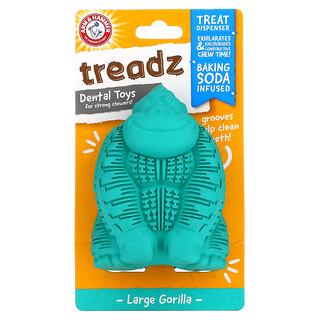 Arm & Hammer, Treadz,強咀嚼能力寵物的牙齒訓練玩具,大型,大猩猩形狀,1 件