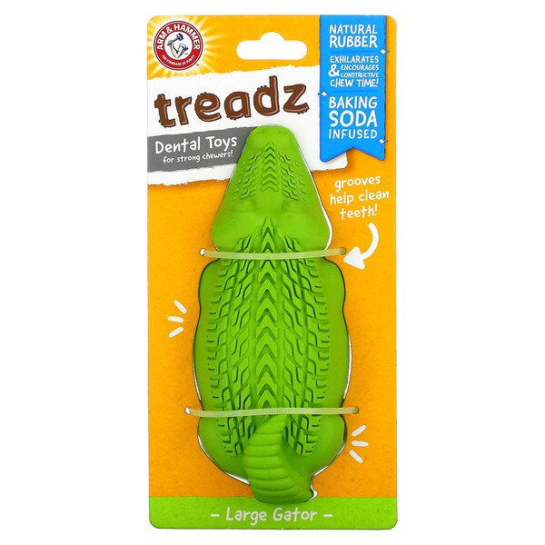 Treadz, Dental Toys For Strong Chewers, Large Gator