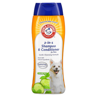 Arm & Hammer, 2-In-1 Shampoo & Conditioner for Pets, Cucumber Mint, 20 fl oz (591 ml)