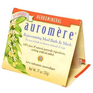 Auromere, リジュベネイティング・マッド バス & マスク, .71 オンス (20 g)