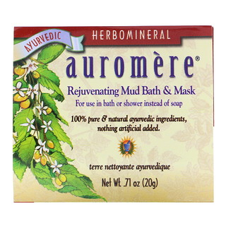 Auromere, Rejuvenating Mud Bath & Mask, .71 oz (20 g)