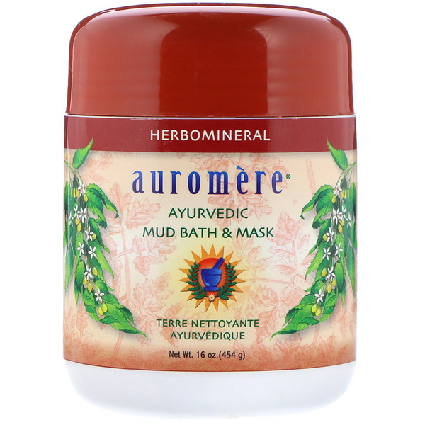 Auromere, Ayurvedic Mud Bath & Mask, 16 oz (454 g) (Discontinued Item)