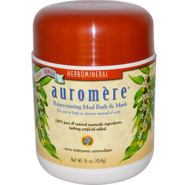 Auromere, 去角質&滋潤雙效泥浴面膜沐浴露,16盎司(454克)