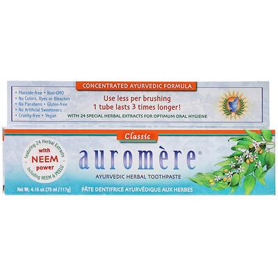 Auromere Аюрведическая зубная паста на травах, классическая, 117г (4,16унции)