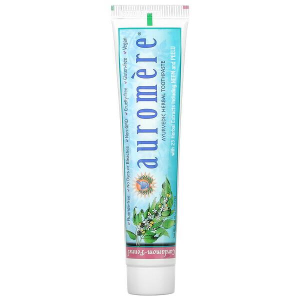 Ayurvedic Herbal Toothpaste, Foam-Free, Cardamom-Fennel, 4.16 oz (117 g)