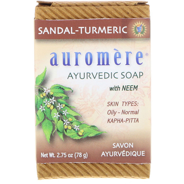 Ayurvedic Soap, with Neem, Sandal-Turmeric, 2.75 oz (78 g)
