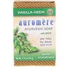 Auromere, Ayurvedic Soap, with Neem, Vanilla-Neem, 2.75 oz (78 g)