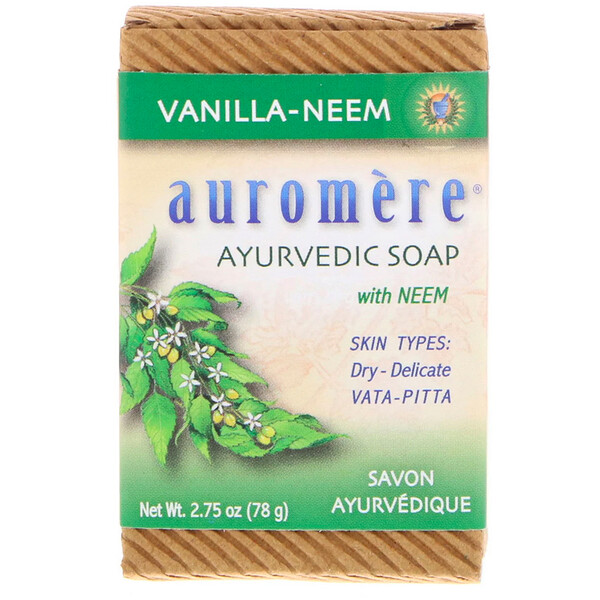 Ayurvedic Soap, with Neem, Vanilla-Neem, 2.75 oz (78 g)