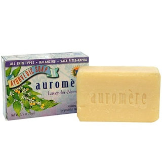 Auromere, Ayurvedic Soap, Lavender-Neem, 2.75 oz (78 g)