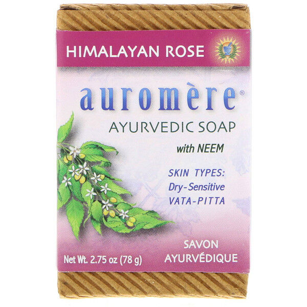 Ayurvedic Soap, With Neem, Himalayan Rose, 2.75 oz (78 g)