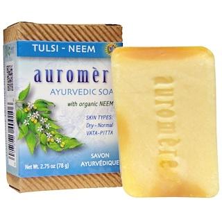 Auromere, Ayurvedic Soap, Tulsi-Neem, 2.75 oz (78 g)