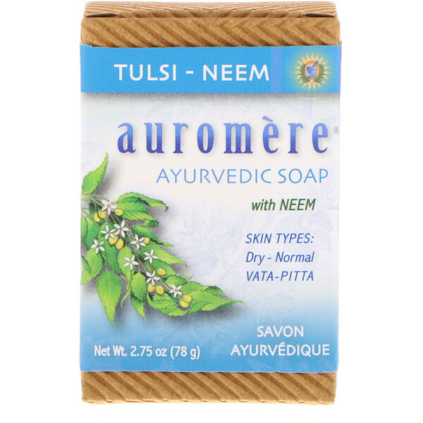 Ayurvedic Soap, with Neem, Tulsi-Neem, 2.75 oz (78 g)