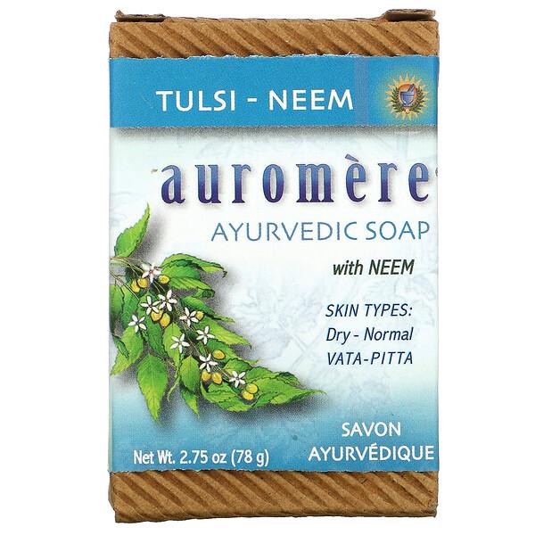Ayurvedic Bar Soap with Neem, Tulsi-Neem, 2.75 oz (78 g)