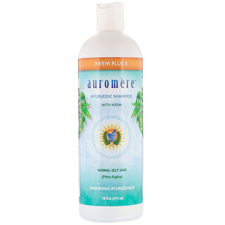 Auromere, Ayurvedic Shampoo with Neem, Neem Plus 5, 16 fl oz (473 ml)