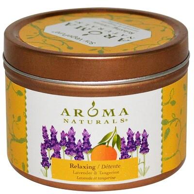 Купить Aroma Naturals Soy VegePure, Свеча с лавандой и мандарином, оказывающая расслабляющее действие, 2, 8 унции (79, 38 г)
