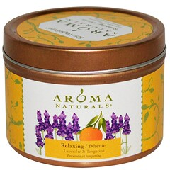 Aroma Naturals, Soy VegePure, Travel Tin Candle, Relaxing, Lavender & Tangerine, 2.8 oz (79.38 g)
