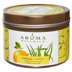Aroma Naturals, Soy VegePure, Ambientação, Laranja e Capim-limão, 2,8 oz (79,38 g)