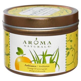 Aroma Naturals, Soy VegePure, 앰비언스, 오렌지 & 레몬그라스, 2.8 oz (79.38 g)