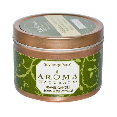 Купить Aroma Naturals Soy VegePure, Travel Candle, Meditation, Пачули и ладан, 79.38 г