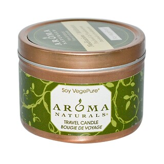 Aroma Naturals, Soy VegePure, Travel Candle, Meditation, Patchouli & Frankincense, 2.8 oz (79.38 g)