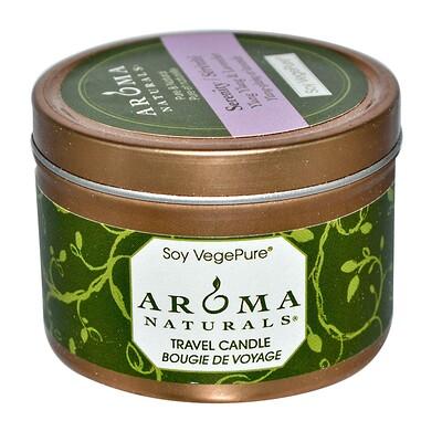 Купить Aroma Naturals Soy VegePure, свеча для поездок, спокойствие, иланг-иланг и лаванда, 2, 8 унции (79, 38 г)
