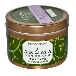 Aroma Naturals, Soy VegePure, Travel Candle, Serenity, Ylang Ylang & Lavender, 2.8 oz (79.38 g)
