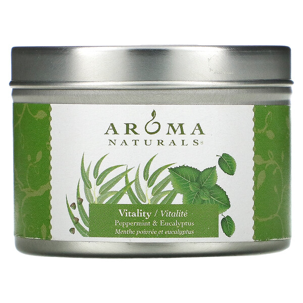 Soy VegePure, Travel Tin Candle, Vitality, Peppermint & Eucalyptus, 2.8 oz (79.38 g)