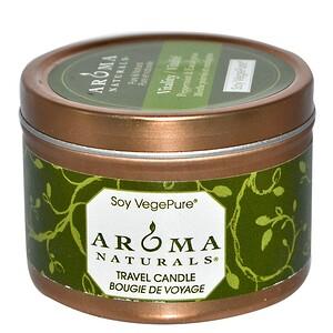 Арома Натуралс, Soy VegePure, Vitality, Travel Candle, Peppermint & Eucalyptus, 2.8 oz (79.38 g) отзывы покупателей