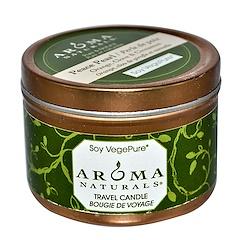 Aroma Naturals, Soy VegePure, Vela de Viagens, Pérola da Paz, Laranja, Cravo e Canela, 2,8 oz (79,38 g)
