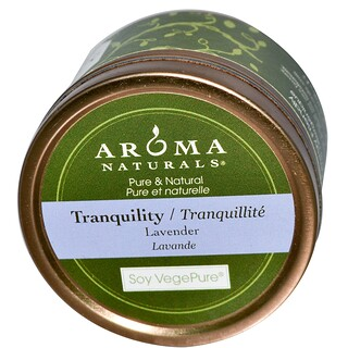 Aroma Naturals, Soy VegePure, Tranquility, Travel Candle, Lavender, 2.8 oz (79.38 g)