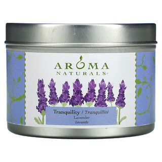 Aroma Naturals, Soy VegePure, Travel Tin Candle, Tranquility, Lavender, 2.8 oz (79.38 g)