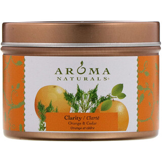 Aroma Naturals, Soy VegePure, Clarity, Travel Candle, Orange & Cedar, 2.8 oz (79.38 g)