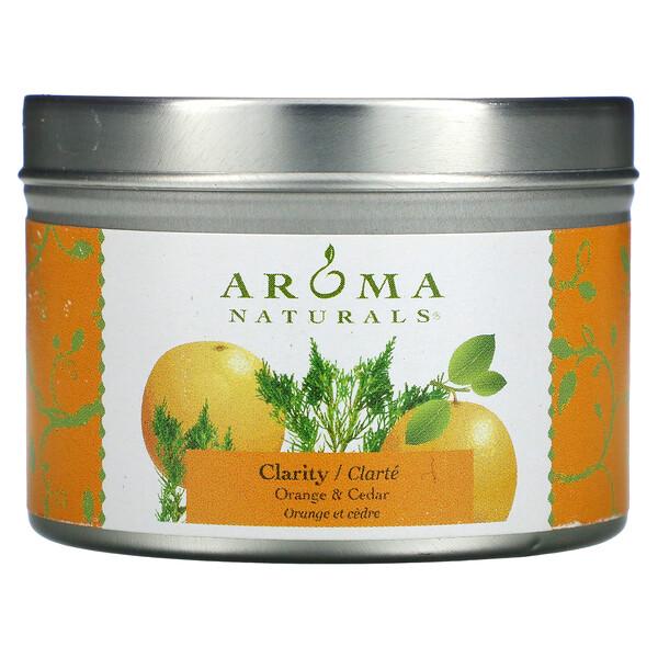 Soy VegePure, Travel Tin Candle, Clarity, Orange & Cedar, 2.8 oz (79.38 g)