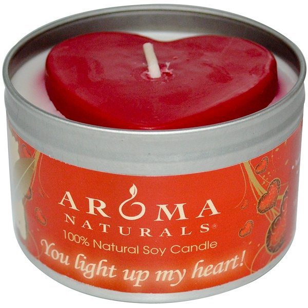 Aroma Naturals, 100% Natural Soy Candle, You Light Up My Heart!, 6.5 oz (Discontinued Item)