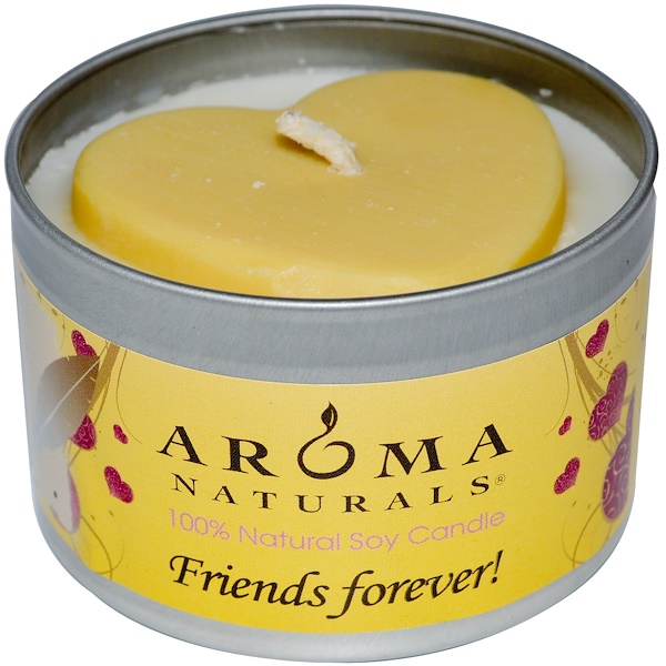 Aroma Naturals, 100% Natural Soy Candle, Friends Forever!, 6.5 oz (Discontinued Item)