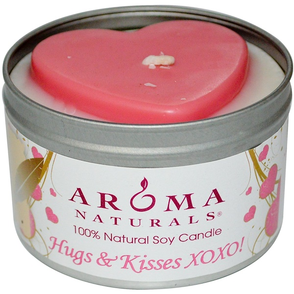 Aroma Naturals, 100% Natural Soy Candle, Hugs & Kisses XOXO!, 6.5 oz (Discontinued Item)