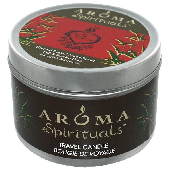 Aroma Naturals, Spirituals, Travel Candle, Eternal Love, Fuji & Passion Fruit, 6.5 oz (184.27 g) (Discontinued Item)