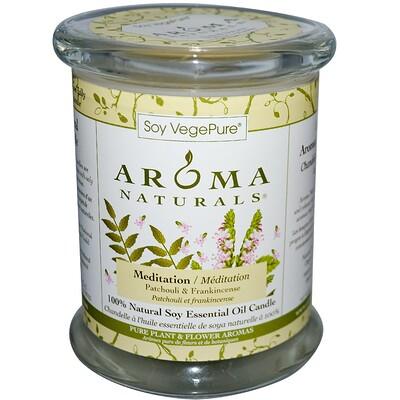 Купить Aroma Naturals Soy VegePure, на 100% натуральные соевые свечи-столбики, для медитации, пачули и ладан, 8, 8 унций (260 г)