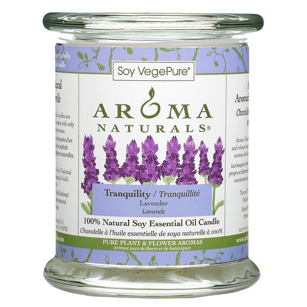 شمعة بزيت الصويا العطري الطبيعي 100%، لأجواء الهدوء والاسترخاء، برائحة الخزامى، 8.8 أونصة (260 جم)