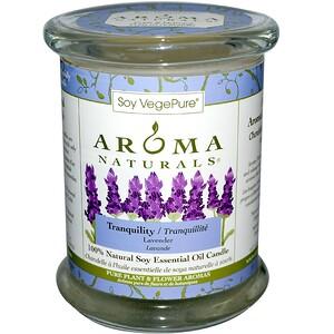 Арома Натуралс, 100% Natural Soy Essential Oil Candle, Tranquility, Lavender, 8.8 oz (260 g) отзывы покупателей