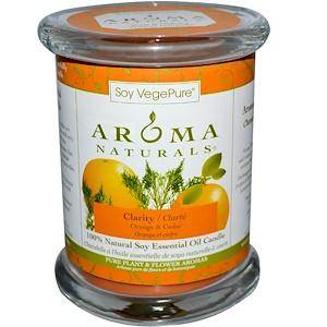 Арома Натуралс, Soy VegePure, 100% Natural Soy Essential Oil Candle, Clarity, Orange & Cedar, 8.8 oz (260 g) отзывы