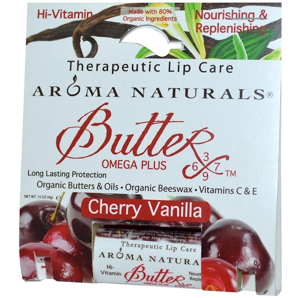 Aroma Naturals, Therapeutic Lip Care, Cherry Vanilla, .15 oz (4 g) (Discontinued Item)
