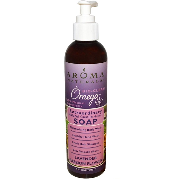 Aroma Naturals, 4-in-1 Soap, Lavender Passion Flower, 8 fl oz (237 ml)
