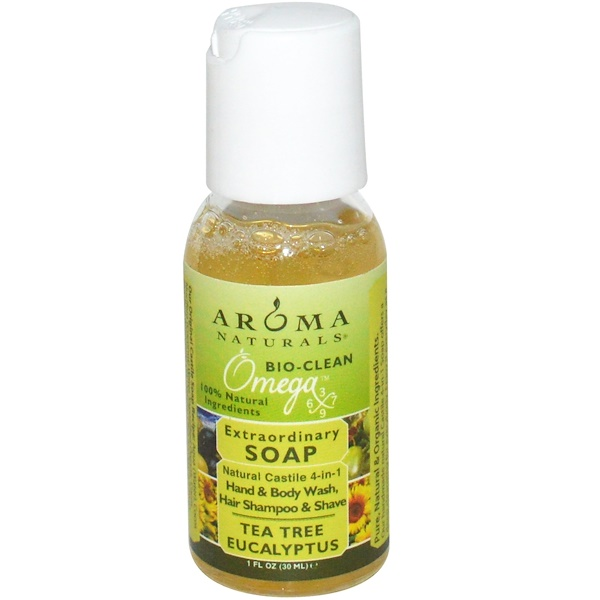 Aroma Naturals, Extraordinary Soap, Tea Tree Eucalyptus, 1 fl oz (30 ml) (Discontinued Item)
