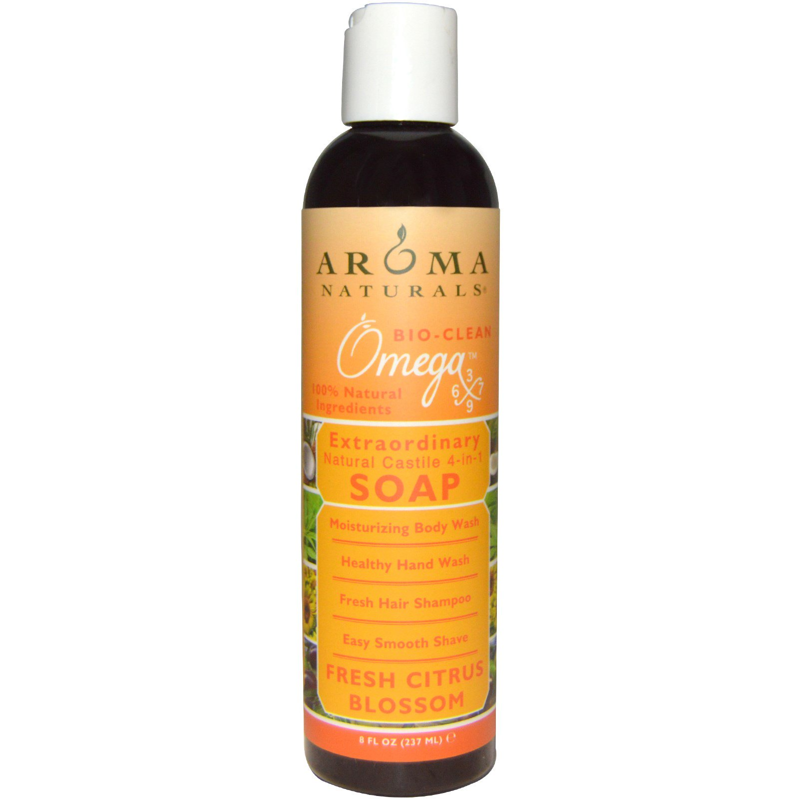 Aroma Naturals, 4-in-1 Soap, Fresh Citrus Blossom, 8 fl oz (237 ml)